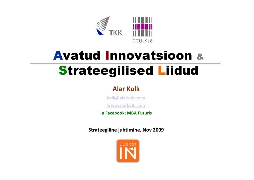 Alar Kolk Open Innovation
