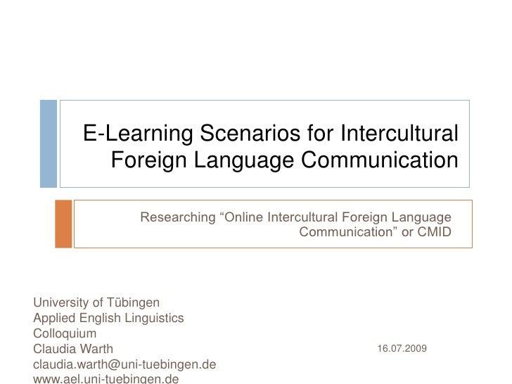 Computer-mediated intercultural discourse - methodological approaches
