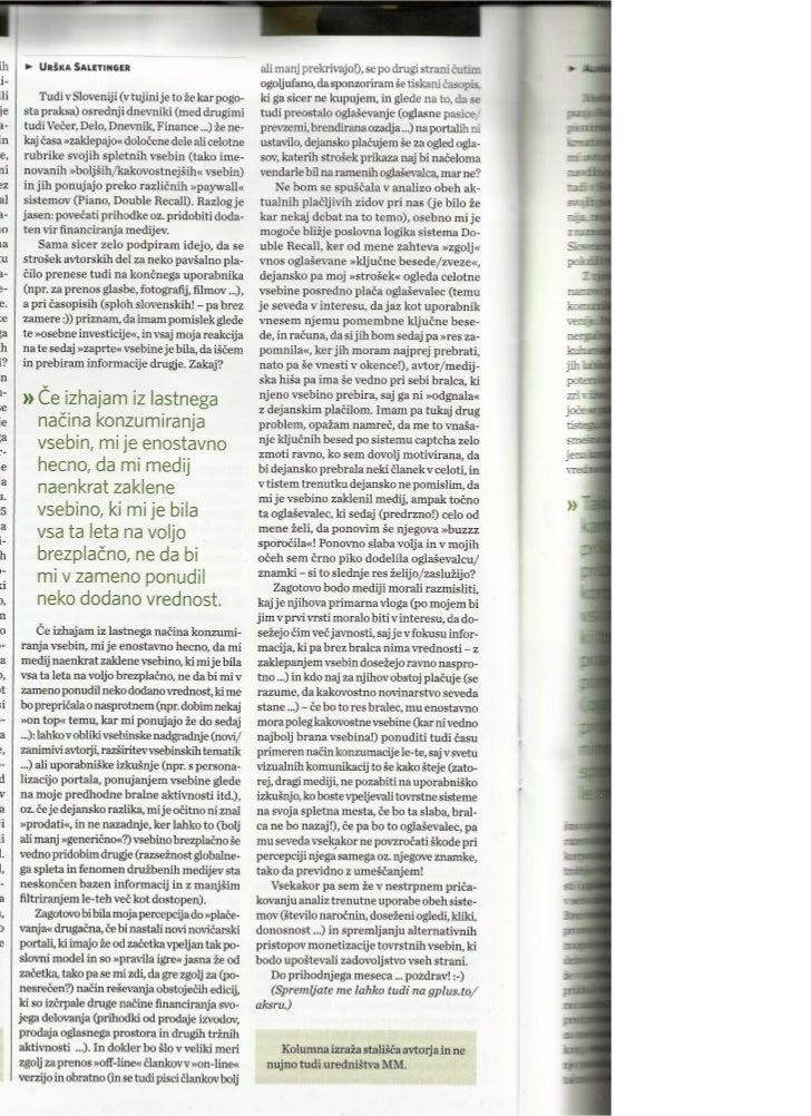 """Sistemi """"placljivih zidov"""" mi niso najbolj blizu ..._Marketing Magazin_apr2012_st.371_str.16"""