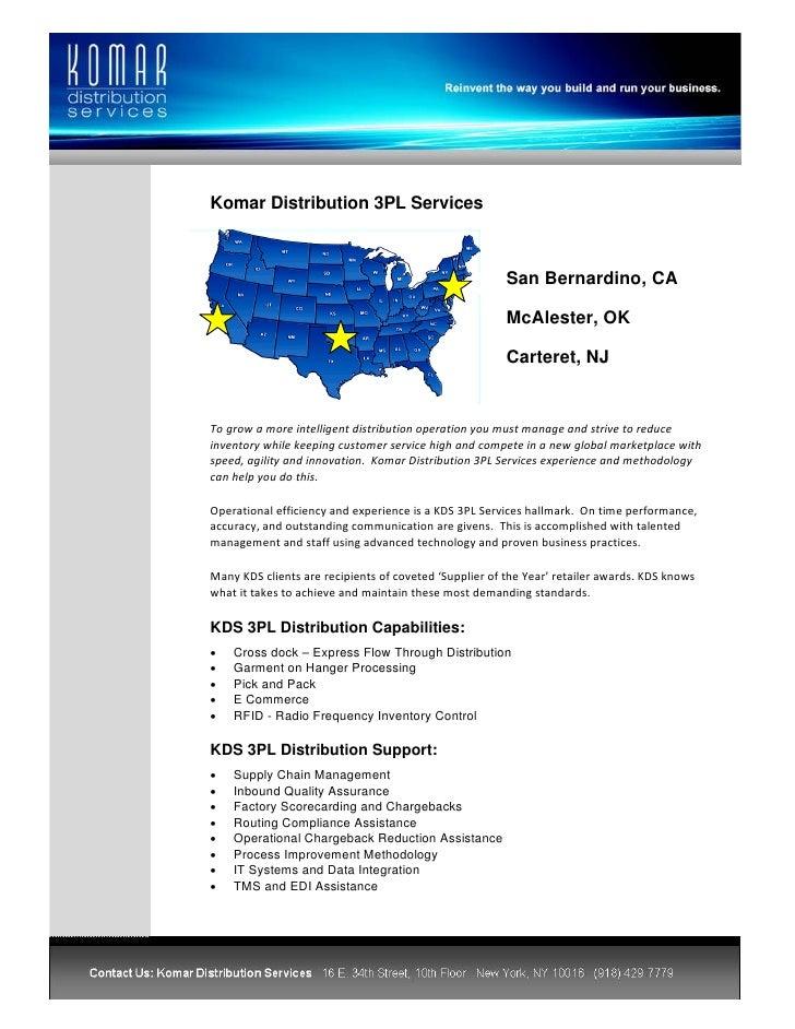 Komar Distribution 3PL Services                                                                San Bernardino, CA...