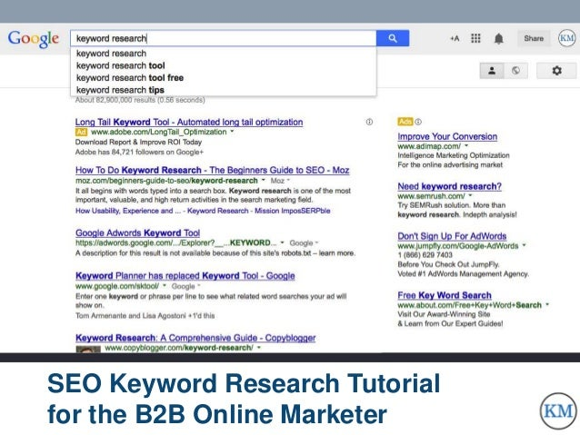SEO Keyword Research for the B2B Online Marketing Professional
