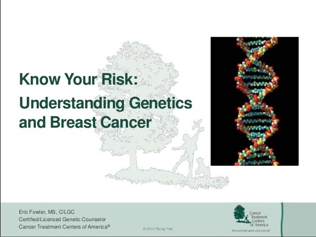 Know Your Risk: Understanding Genetics and Breast Cancer  Eric Fowler, MS, C/LGC Certified/Licensed Genetic Counselor Canc...