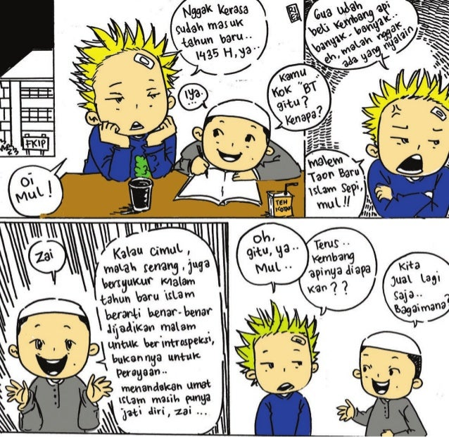 Komik persiapan tahun baru islam-