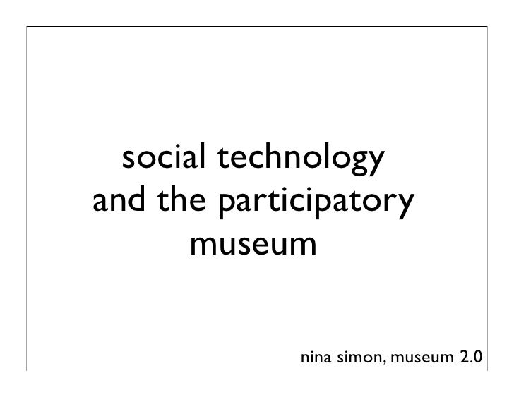 Ten Tips for Museums in Thinking about Social Technology