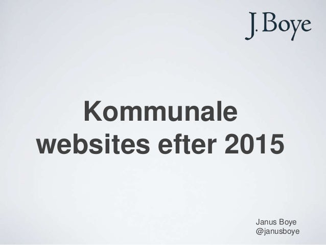 Kommunale websites efter 2015