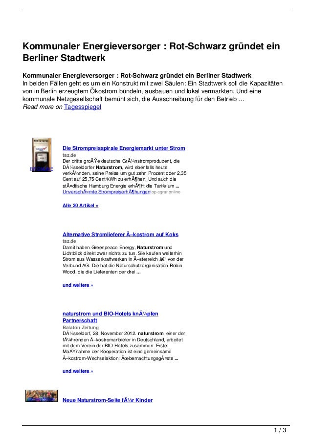 Kommunaler Energieversorger : Rot-Schwarz gründet einBerliner StadtwerkKommunaler Energieversorger : Rot-Schwarz gründet e...