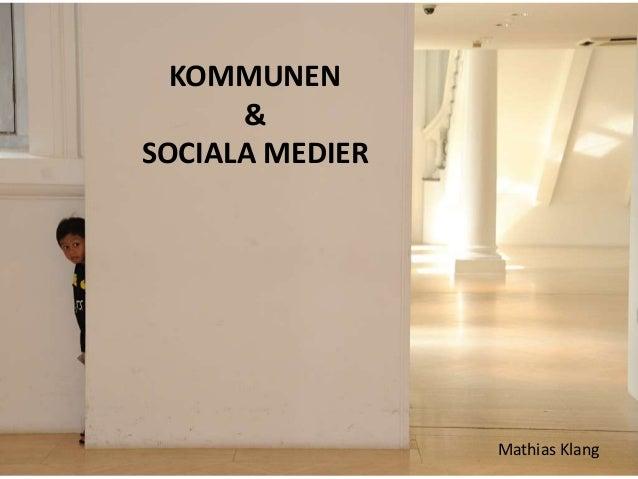 Kommunen & Sociala Medier
