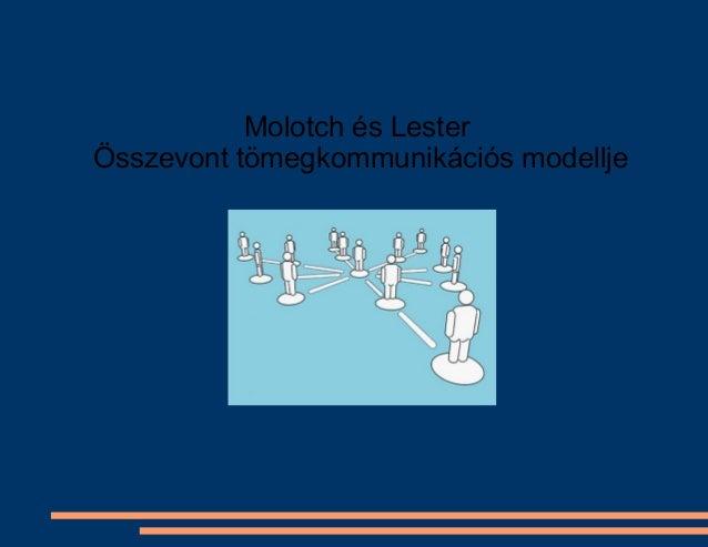 Molotch és Lester Összevont tömegkommunikációs modellje