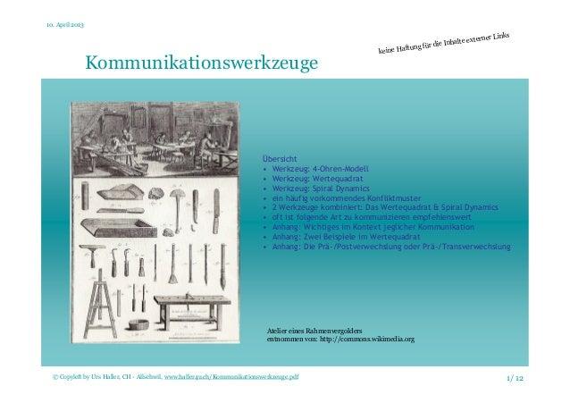 10. April 2013 1/ 12© Copyleft by Urs Haller, CH - Allschwil, www.haller4u.ch/Kommunikationswerkzeuge.pdf Kommunikationswe...