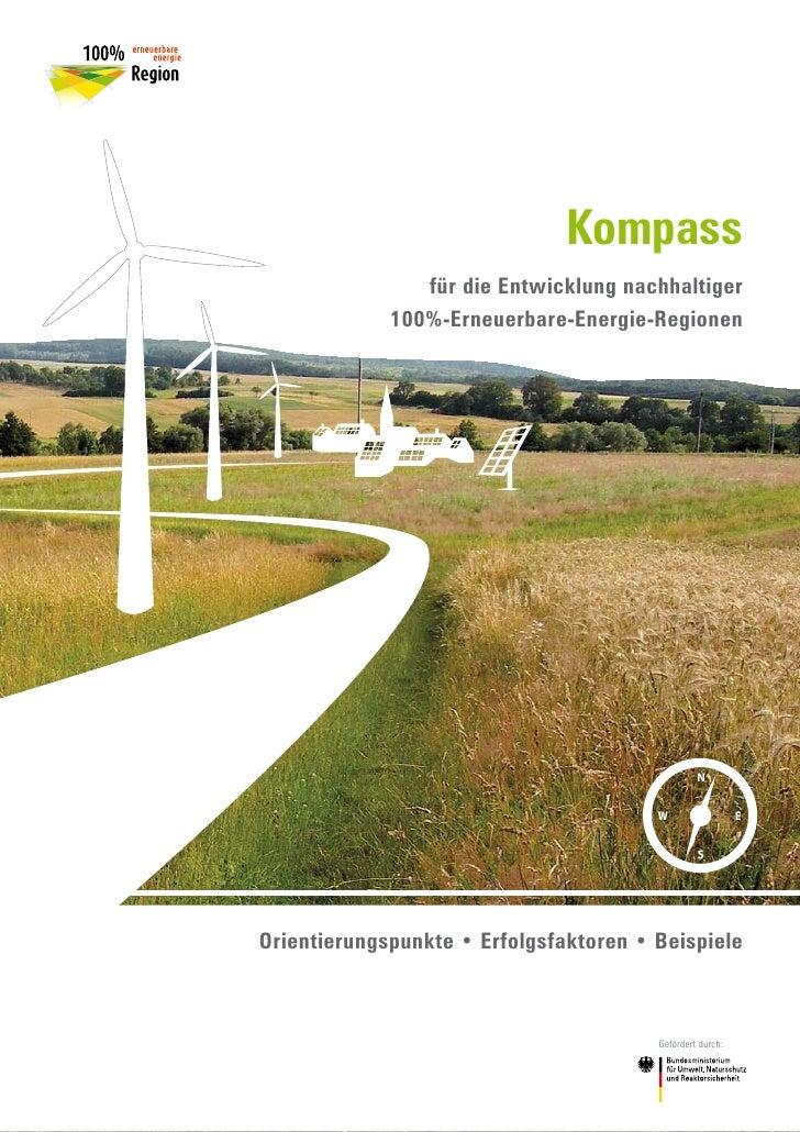 Kompass                 für die Entwicklung nachhaltiger              100%-Erneuerbare-Energie-Regionen                   ...