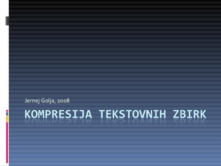 Kompresija tekstovnih datotek