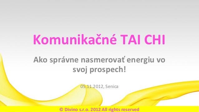 Komunikačné TAI CHI