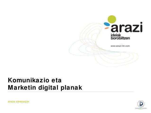 Komunikazio etaMarketin digital planakARAZIK EGINDAKOAK