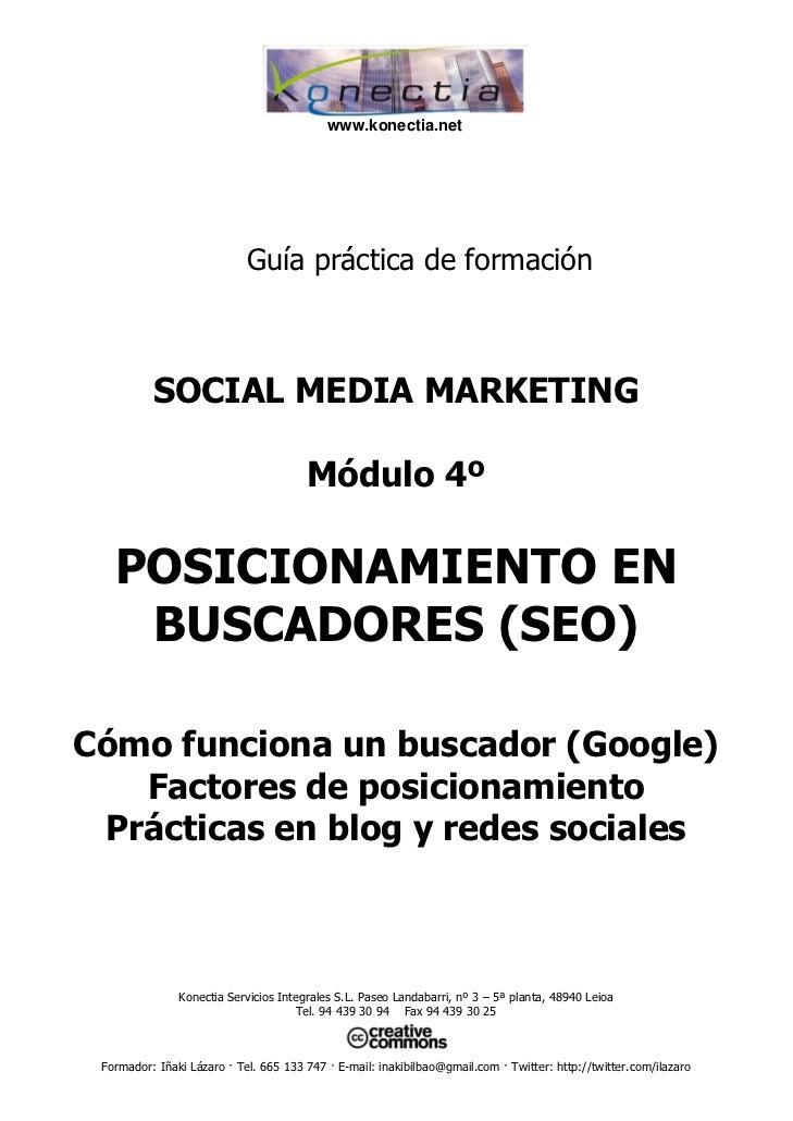 www.konectia.net                            Guía práctica de formación          SOCIAL MEDIA MARKETING                    ...