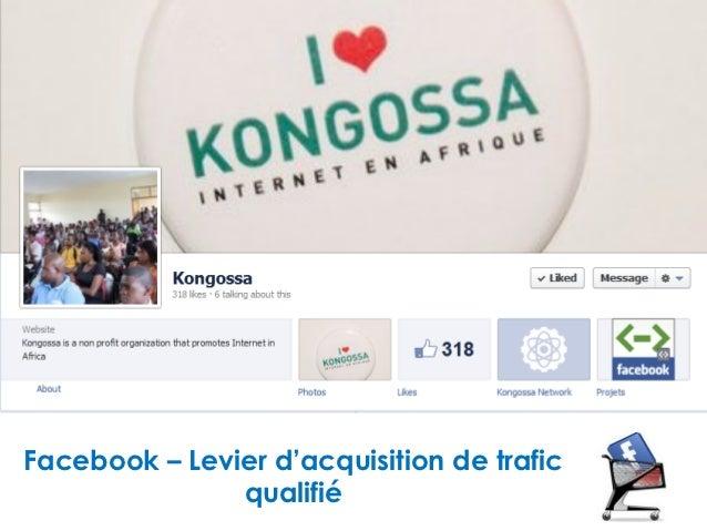 Facebook – Levier d'acquisition de trafic               qualifié