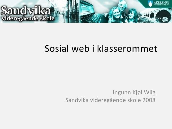 Sosial web i klasserommet
