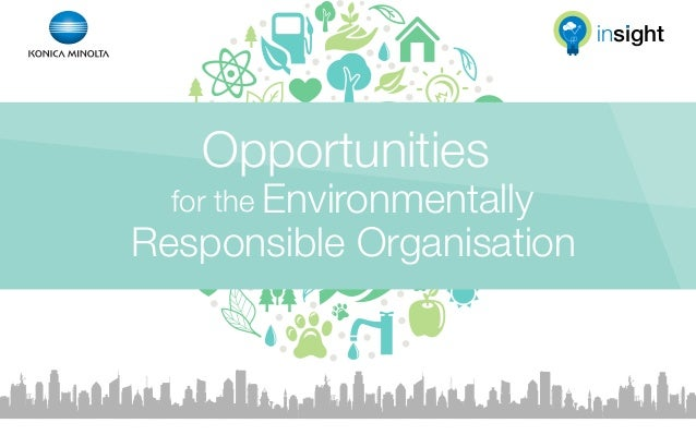 Opportunities for the environmentally responsible organisation | Infographic