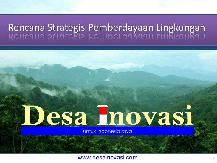 16 November 2010 Desa Inovasi untuk Indonesia raya