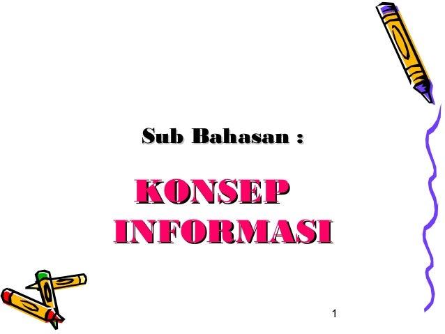 Konsep informasi