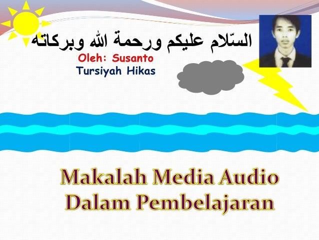 Konsep Media Audio Pembelajaran