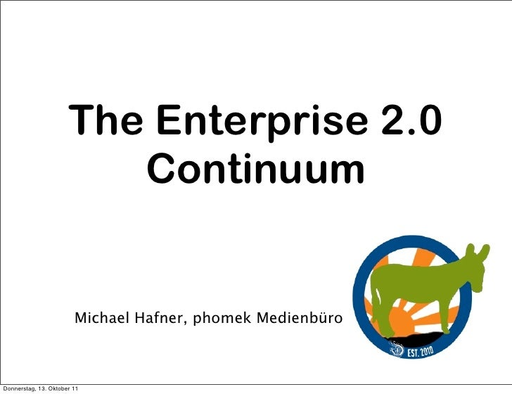 The Enterprise 2.0 Continuum