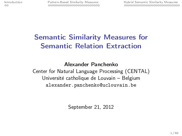 Semantic Similarity Measures for Semantic Relation Extraction