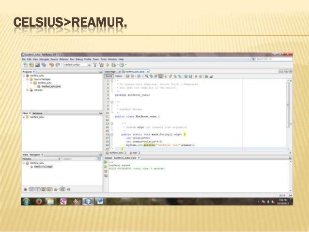 CELSIUS>REAMUR.