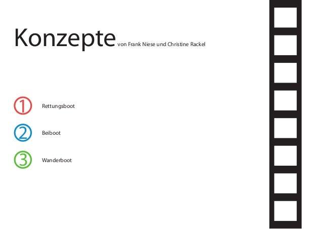 1 2 3 Konzeptevon Frank Niese und Christine Rackel Rettungsboot Wanderboot Beiboot