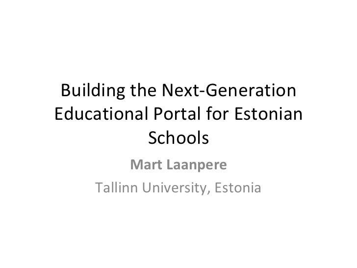Estonian Teachers' Portal Koolielu.ee
