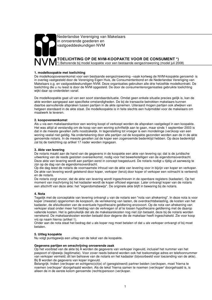 Nederlandse Vereniging van Makelaars                in onroerende goederen en                vastgoeddeskundigen NVM      ...