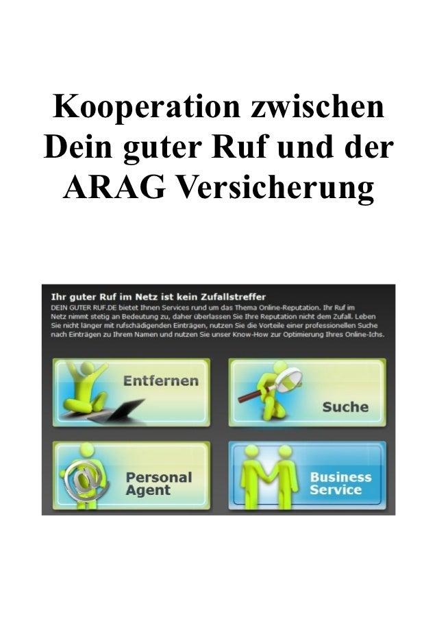 Kooperation zwischen deinguterRuf und der ARAG Versicherung