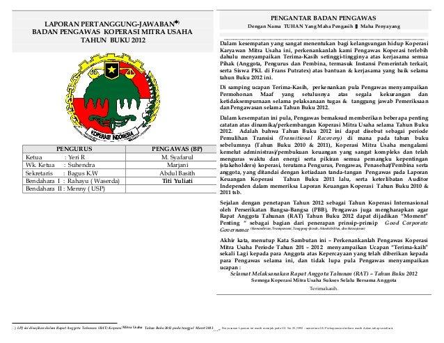 Koperasi laporan pengawas_thn_buku2012