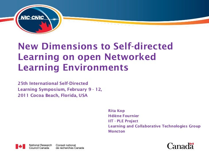 Kop Fournier Self-directed learning Florida 2011