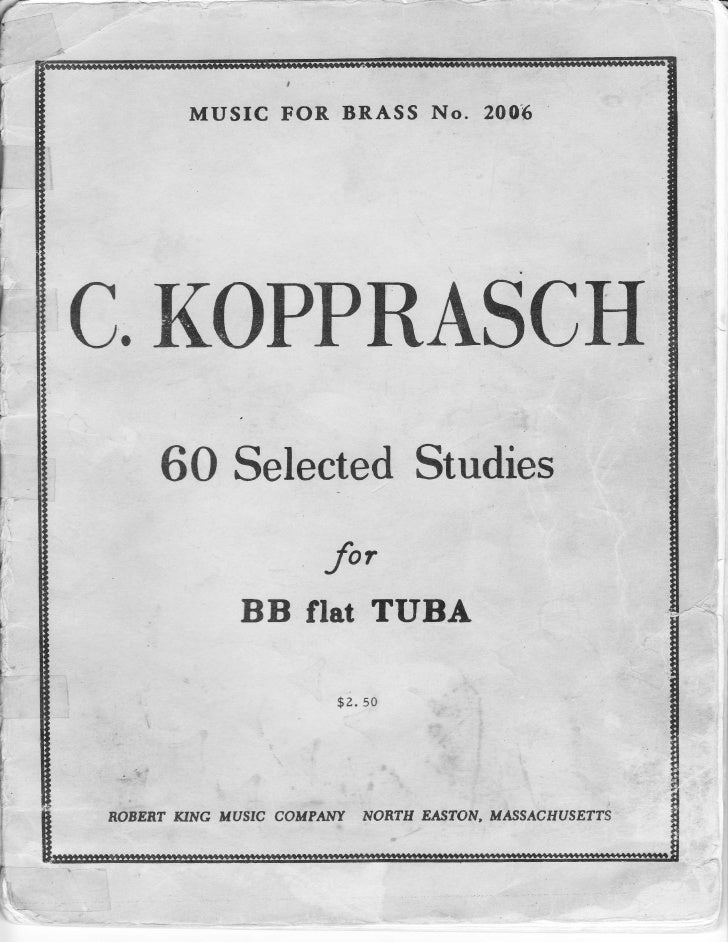Kopprasch 60 selected studies for bb flat tuba