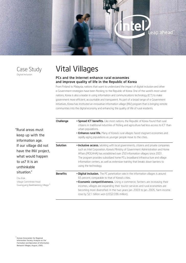 Vital Villages     Case Study     Digital Inclusion                                              PCs and the Internet enha...