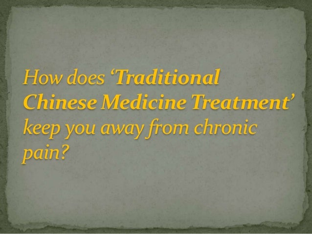 Traditional Chinese Medicine Treatment