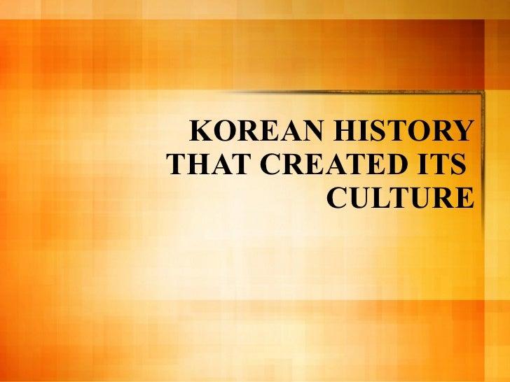 Korean history culture