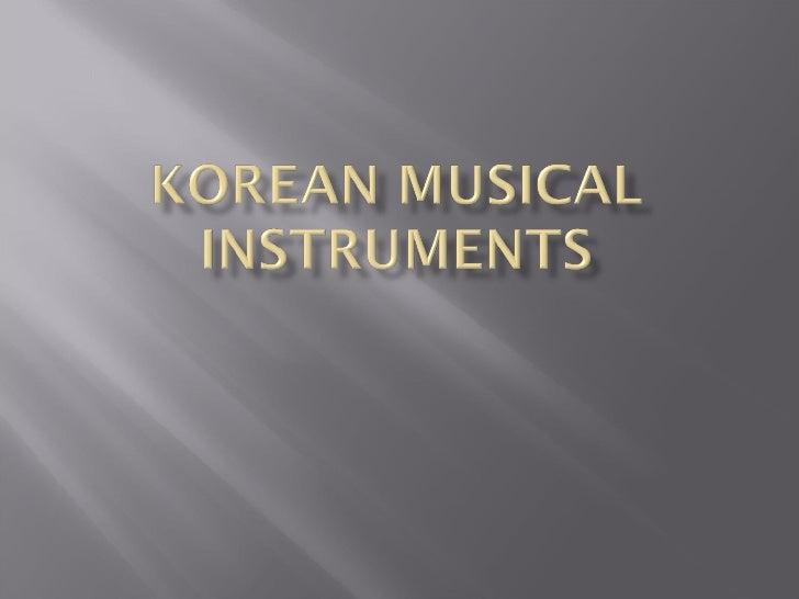Koreaninstruments