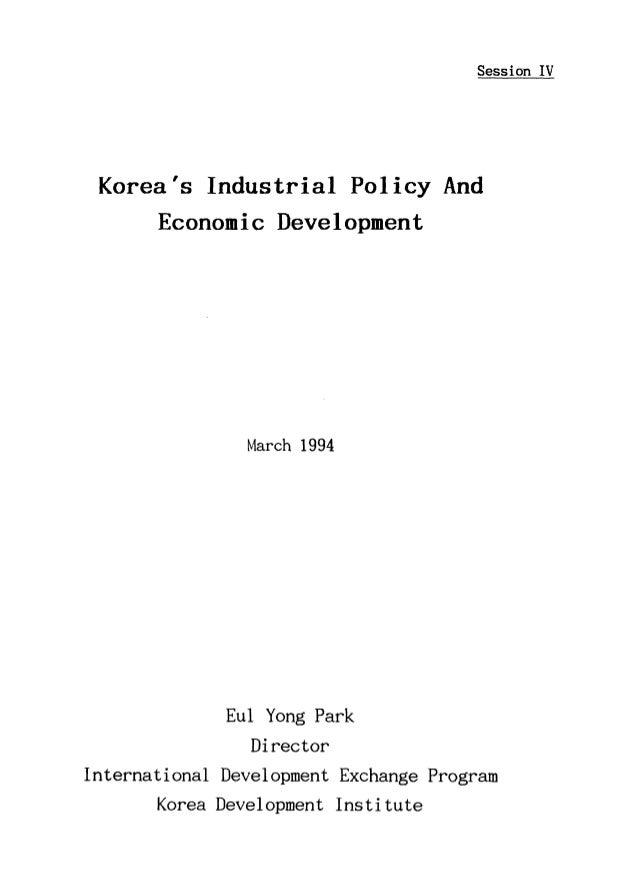 Korea's Industrial Policy and Economic Development