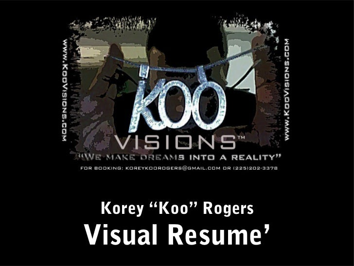 Korey Rogers Visual Resume'