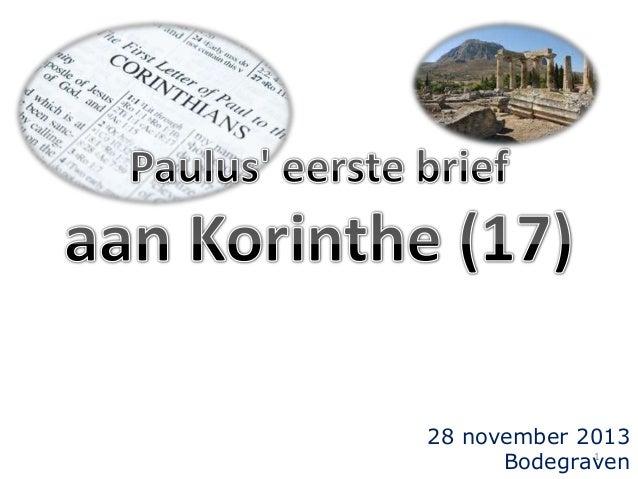 28 november 2013 1 Bodegraven