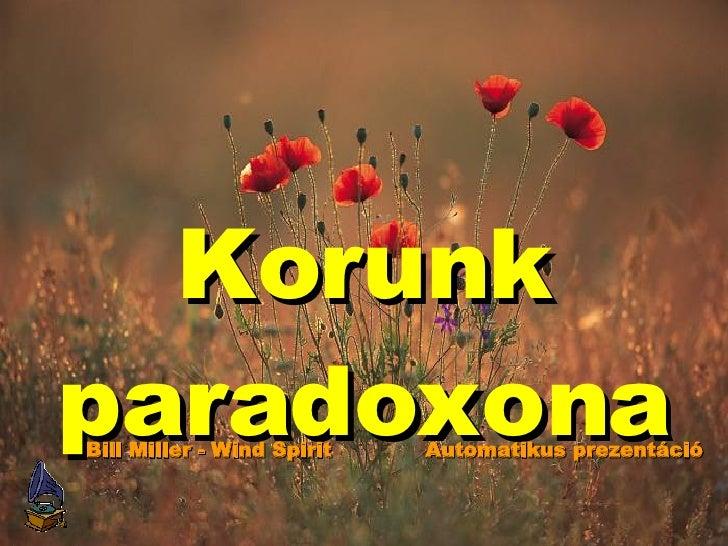 Korunk Paradoxona