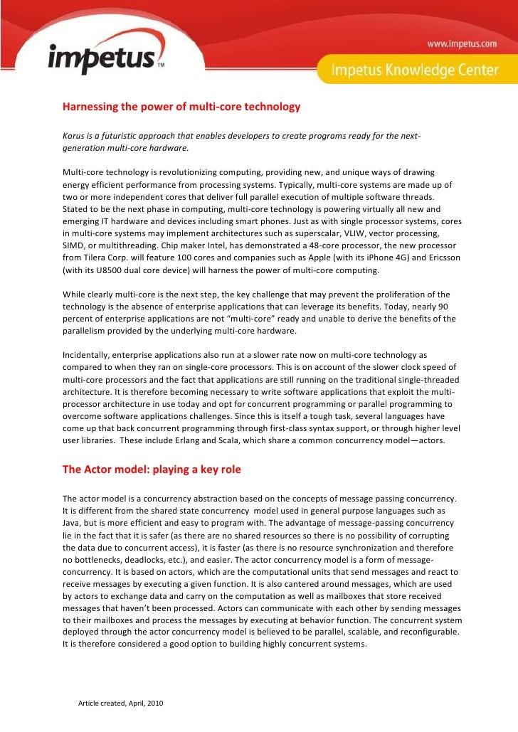 Korus - Harnessing The Power Of Multi-core Technology