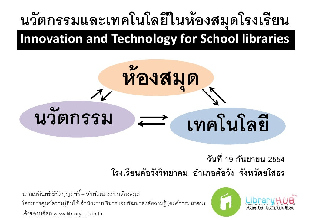 Innovation and Technology for School libraries