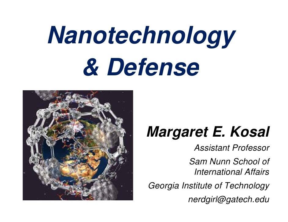 Kosal Nanotechnology & Defense 5 Feb10