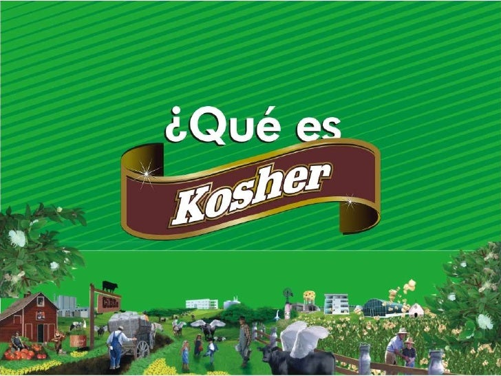 """La palabra hebrea kosher significa """"apto"""". Las leyes de kashrut definen los alimentos que son aptos para el consumo de un ..."""