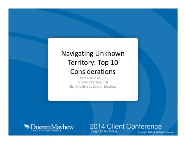 Navigating Unknown Territory: Top 10 International Considerations