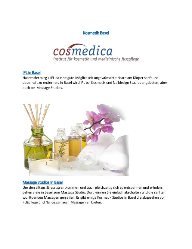 Kosmetik BaselIPL in BaselHaarentfernung / IPL ist eine gute Möglichkeit ungewünschte Haare am Körper sanft unddauerhaft z...