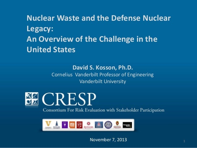 Nuclear Waste and the Defense Nuclear Legacy: Put Title HereChallenge in the An Overview of the Put SubTitle Here United S...