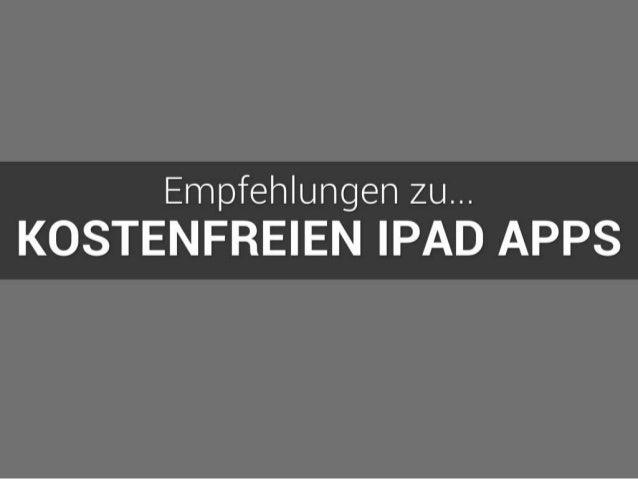 Kostenfreie iPad Apps | Eine Empfehlung